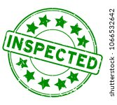 grunge green inspected with... | Shutterstock .eps vector #1066532642