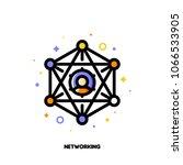 abstract social network scheme... | Shutterstock .eps vector #1066533905