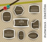 love tags or stickers for... | Shutterstock .eps vector #106653566