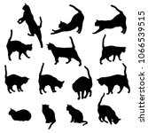 set vector silhouettes of the... | Shutterstock .eps vector #1066539515
