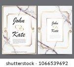 elegant creative business cards ... | Shutterstock .eps vector #1066539692