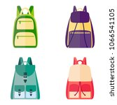 set of colorful backpacks ... | Shutterstock .eps vector #1066541105