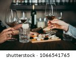 wine and cheese served for a... | Shutterstock . vector #1066541765