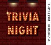 trivia night announcement...   Shutterstock .eps vector #1066541846