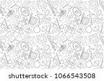 vector rpg pattern. rpg... | Shutterstock .eps vector #1066543508