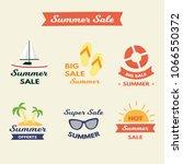 objets summer sale | Shutterstock . vector #1066550372