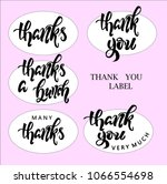 labels for gratitude  the... | Shutterstock . vector #1066554698