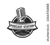 podcast station. emblem... | Shutterstock .eps vector #1066556888