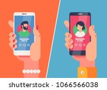 male and female hands holding... | Shutterstock .eps vector #1066566038