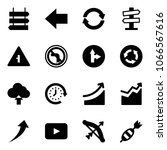 solid vector icon set   sign... | Shutterstock .eps vector #1066567616