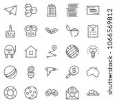 thin line icon set   search... | Shutterstock .eps vector #1066569812