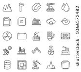 thin line icon set   cloud... | Shutterstock .eps vector #1066572482