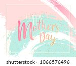 mother's day cool vector card.... | Shutterstock .eps vector #1066576496