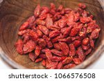 background view of dried red... | Shutterstock . vector #1066576508