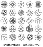outline flower icon set  vector ... | Shutterstock .eps vector #1066580792