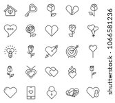 thin line icon set   rose...   Shutterstock .eps vector #1066581236