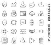 thin line icon set   setup page ... | Shutterstock .eps vector #1066583198