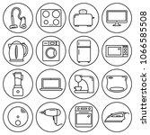 editable stroke. simple set of... | Shutterstock .eps vector #1066585508