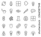 thin line icon set   idea... | Shutterstock .eps vector #1066587548