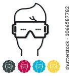 virtual reality headgear   icon | Shutterstock .eps vector #1066587782