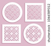 templates for laser cutting ... | Shutterstock .eps vector #1066589312
