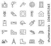 thin line icon set   cutter... | Shutterstock .eps vector #1066591565