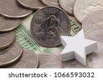 a quarter of alaska  quarters...   Shutterstock . vector #1066593032