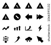 solid vector icon set   turn... | Shutterstock .eps vector #1066595132