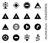 solid vector icon set   road... | Shutterstock .eps vector #1066600856