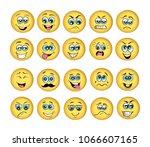 vector emoticons emoji set....   Shutterstock .eps vector #1066607165