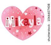 mikayla excellent feminine...   Shutterstock .eps vector #1066607408