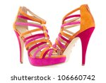 Pare Of Pink And Orange Shoes...