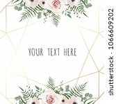 vector floral design card.... | Shutterstock .eps vector #1066609202