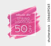 spring sale 50  off sign over... | Shutterstock .eps vector #1066609265