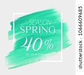 spring sale 40  off sign over...   Shutterstock .eps vector #1066609685