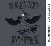 t shirt deamon angel original... | Shutterstock .eps vector #1066612835