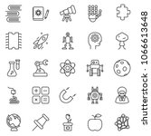 thin line icon set   gear head... | Shutterstock .eps vector #1066613648