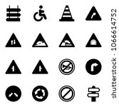 solid vector icon set   sign... | Shutterstock .eps vector #1066614752