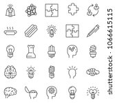 thin line icon set   idea... | Shutterstock .eps vector #1066615115