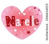 narelle feminine given name   Shutterstock .eps vector #1066616015