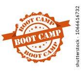 boot camp text orange color... | Shutterstock .eps vector #1066616732