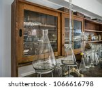 retro style chemical classroom... | Shutterstock . vector #1066616798