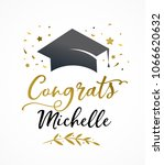 graduation party invitations ... | Shutterstock .eps vector #1066620632