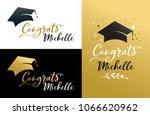 graduation party invitations ... | Shutterstock .eps vector #1066620962