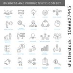 business icons symbolizing... | Shutterstock .eps vector #1066627445