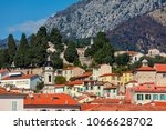 view of colorful houses with... | Shutterstock . vector #1066628702