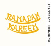 illustration of ramadan kareem... | Shutterstock .eps vector #1066637675