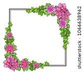 floral frame  hand drawn...   Shutterstock .eps vector #1066638962