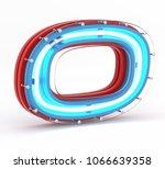 3d render letters for neon... | Shutterstock . vector #1066639358
