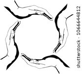 people hands making circle... | Shutterstock .eps vector #1066644812